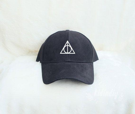 Deathly Hallows Baseball Hat Harry Potter Cap Embroidered Baseball Caps Cotton Hats Pinterest Instagram Tumblr