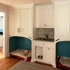 Build Built in Bunk Beds   Built in dog bed-   For the Home