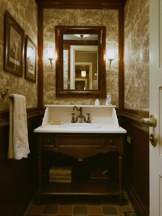 72 best bathrooms so wonderful images on pinterest for Vanities for powder rooms
