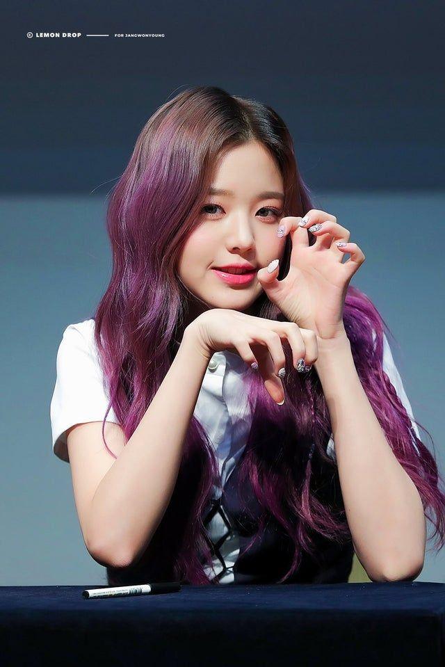 Wonyoung Kpics Korean Hair Color Pretty Edgy Purple Hair