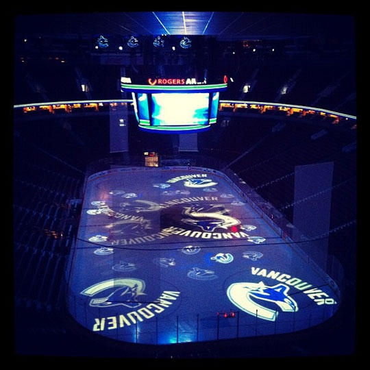 Rogers Arena - the beginning of their home games get me so pumped its unbelievable so much adrenaline!!!