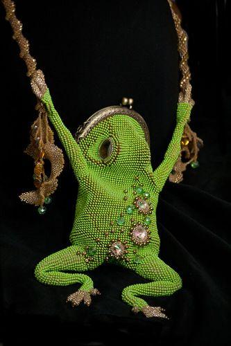Апрельское зеленое, лягушисто-орхидейное | biser.info - всё о бисере и бисерном творчестве