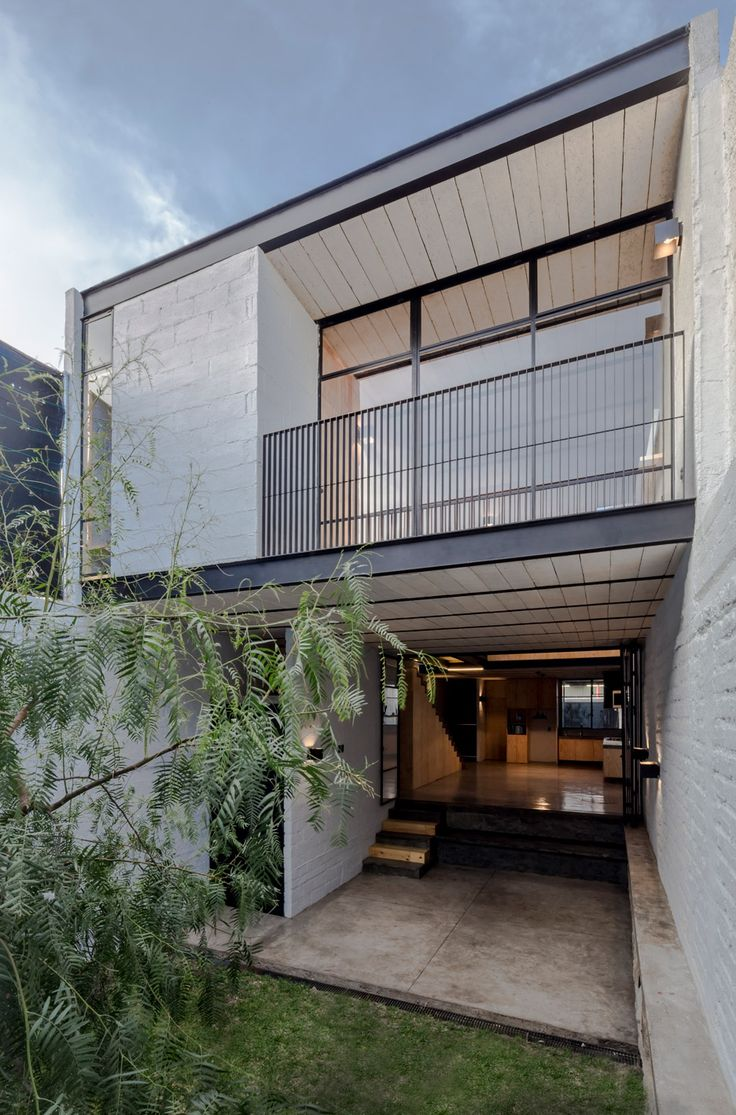 Architect Delfino Lozano used simple materials to reduce the cost of rebuilding of this house in Zapopan, Mexico.