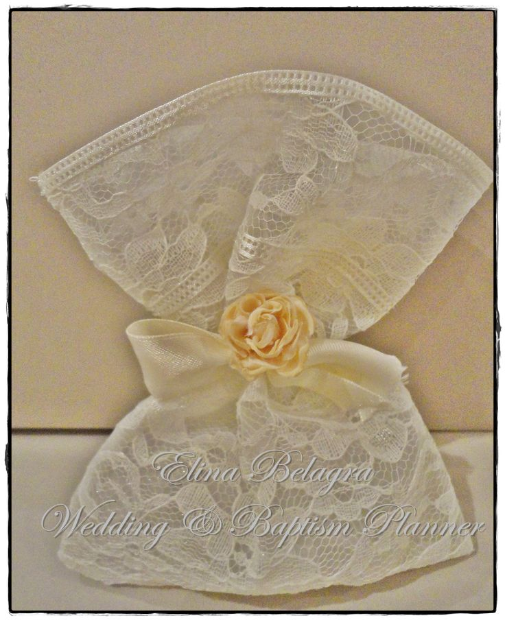 wedding#gifts#flower#lace#gamos#wedding#chicwedding#romantic#wedding#fabric#flowers#romance#vintagewedding#vintage#handmade#weddingplanner#elinabelagra#www.elinabelagra.gr Μπομπονιέρα γάμου πουγκί από δαντέλα, λουλούδια υφασμάτινα