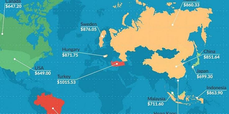 Here's how much an iPhone costs around the world [Infographic]