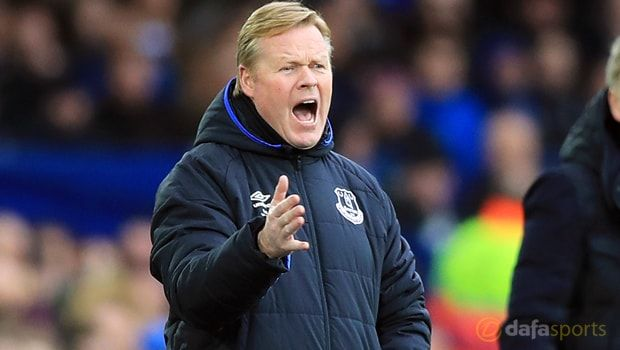Everton defender Ashley Williams wants boss Ronald Koeman to remain at the club despite speculation linking the Dutchman with Barcelona.