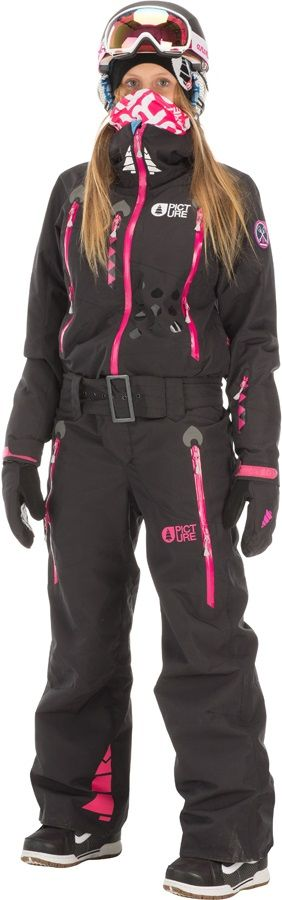 Picture APOLLA ONESIE SUIT Women's Ski/Snowboard One Piece, S, Black