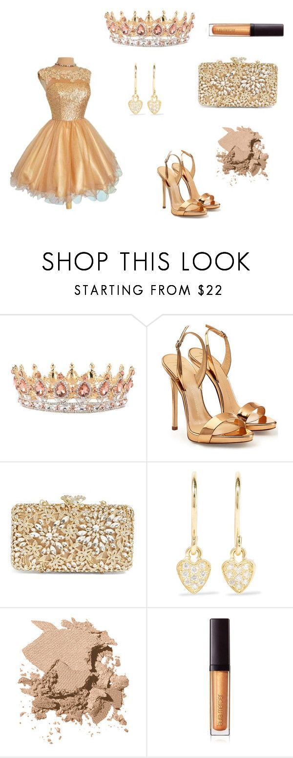 """""""Homecoming Queen"""" by phat-panda ❤ liked on Polyvore featuring Giuseppe Zanotti, Glint, Jennifer Meyer Jewelry, Bobbi Brown Cosmetics and Laura Mercier"""