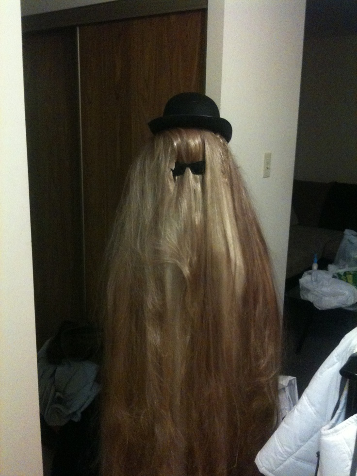 My Cousin It Costume I Took 4 Five Ft Long Blonde Wigs