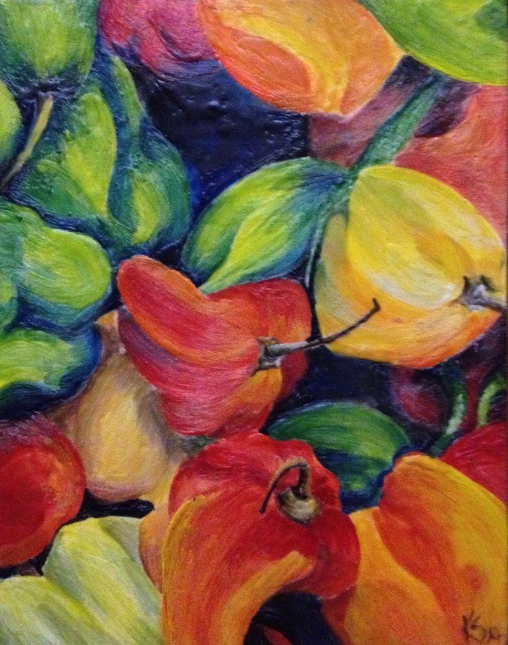 "Encaustic painting ""pepper pot"" www.kariserrao.com"
