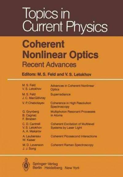 Coherent Nonlinear Optics: Recent Advances