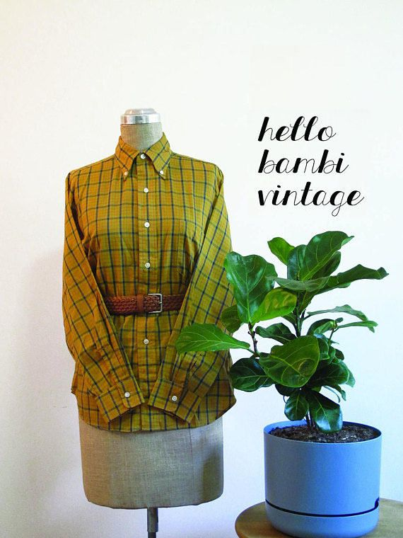 Vintage Button-up Checked Shirt https://www.etsy.com/au/shop/HelloBambiVintage