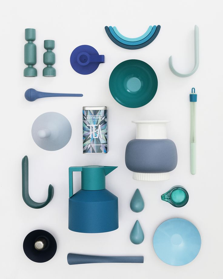 Blue is one of the most versatile decorating hues, creating a casual, comforting atmosphere. Find more blue and beautiful designs at Normann Copenhagen