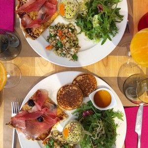 Popotte and co - le brunch 100 % sans gluten à Lyon ! On y mange des galettes de sarrasin, pizza, pancake, salade, granola, patisserie... Retrouvez l'adresse sur le site @becausegus #sansgluten #glutenfree #adresse #restaurant #brunch #lyon