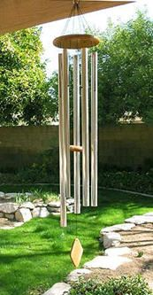 You can make Musical Wind Chime Acoustics with specific notes using online Excel spreadsheet calculating metal type, width and length.