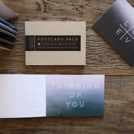 Bringing back letter writing...Create your own Postcards with the new Postcard Pack by Artifact Uprising.