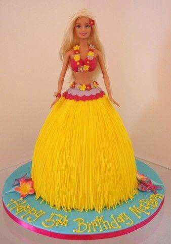 Hula barbie cake