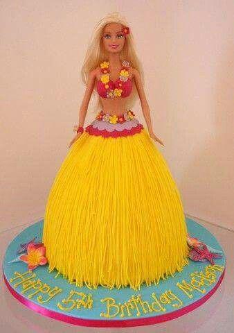 Hula barbie cake