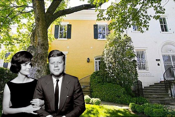 Jackie O's Boxwoods Frame This Georgetown Townhouse