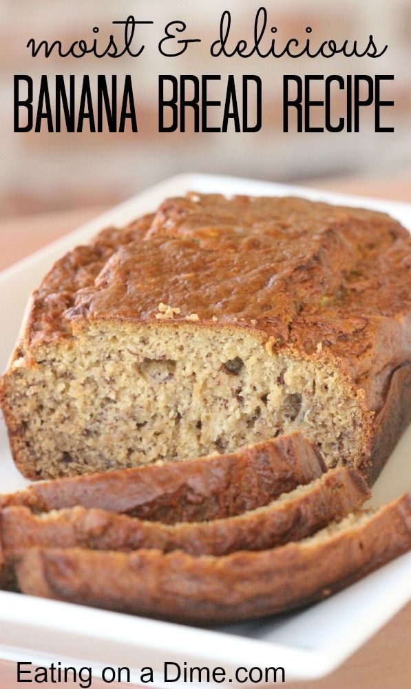 Moist Banana Bread Recipe - Eating on a Dime NOTE FROM KP: Added 3/4 c chocolate chips.