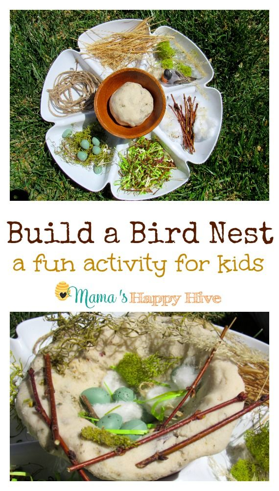 Children love sensory play! This is an easy build a bird nest activity your child will love! - www.mamashappyhive.com