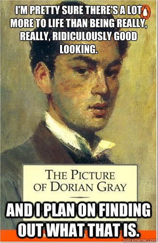 Zoolander meets Oscar Wilde & Dorian Gray.