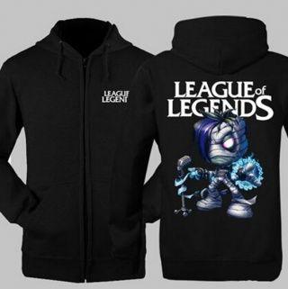 League of Legends XXXL zip hoodies for men Amumu sweatshirt design