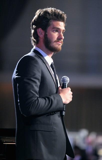 Beard crush.   Andrew Garfield attends the Worldwide Orphans 15th Anniversary Benefit Gala