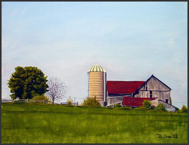 Art by David A. Oram - Landscapes and Portraits - Newmarket Farm