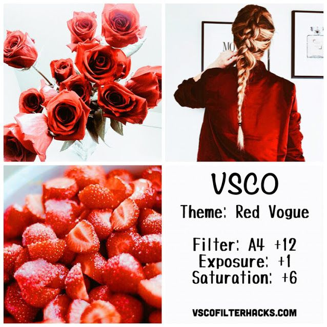 Red Vogue Instagram Feed Using VSCO Filter A4