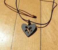 Bengt & Lotta Heart Pendant, black iron