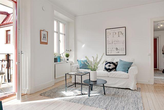 Białe wnętrza i minimum mebli | Skandynawskie Inspiracje