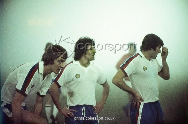 england players allan clarke kevin keegan and malcolm macdonald in the fog during
