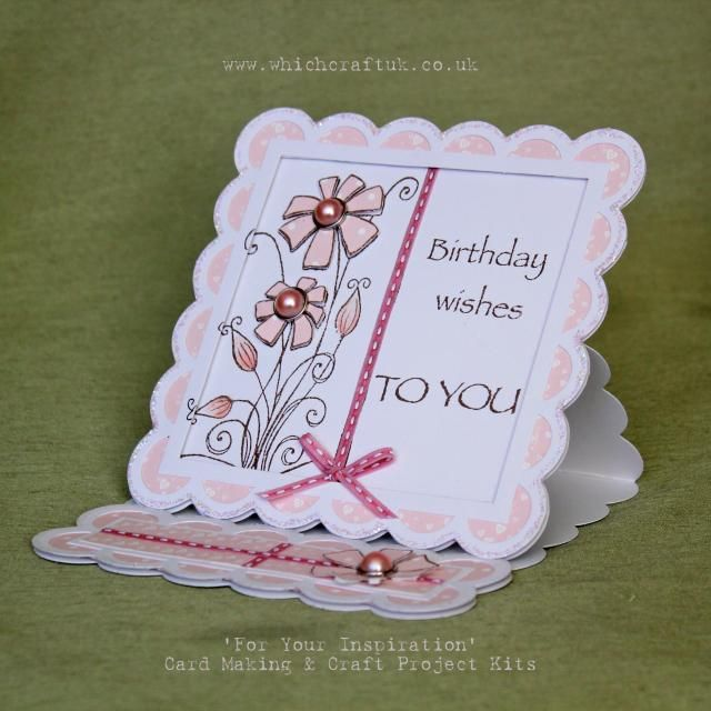 'daisy panel' card kit .....by Which Craft? 3 floors of crafting......Doncaster UK
