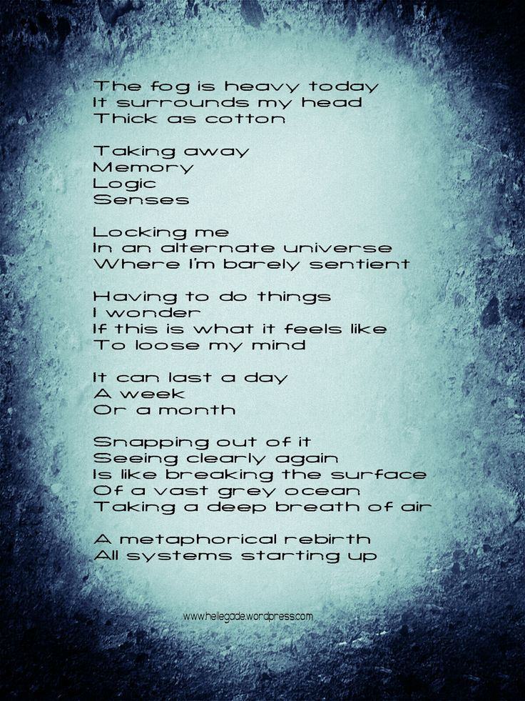 °The Fog°  #poetry