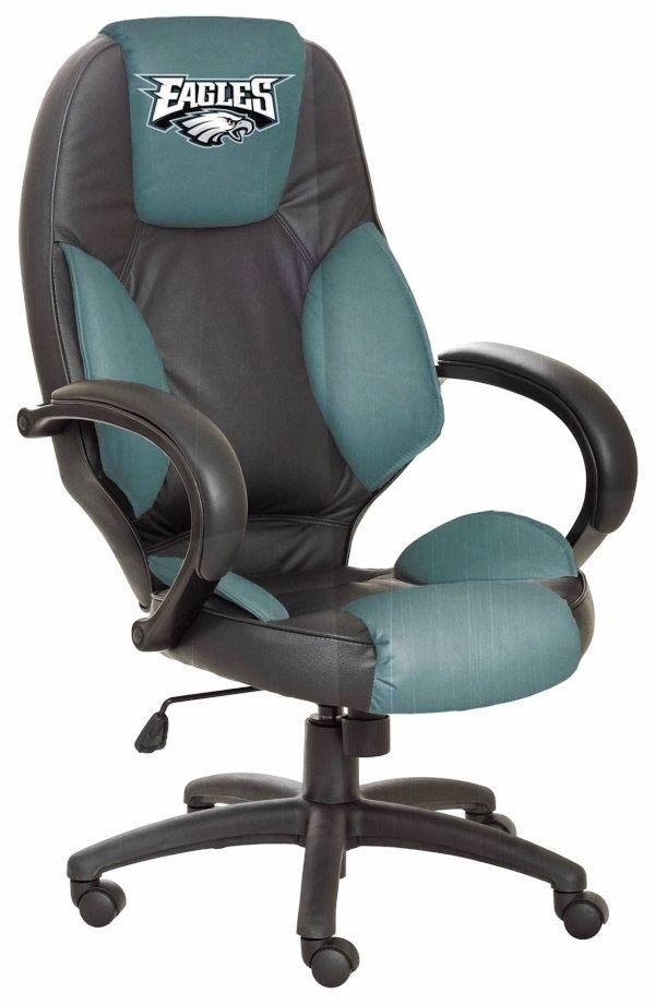 Good Philadelphia Eagles Leather Desk/Office Executive Chair