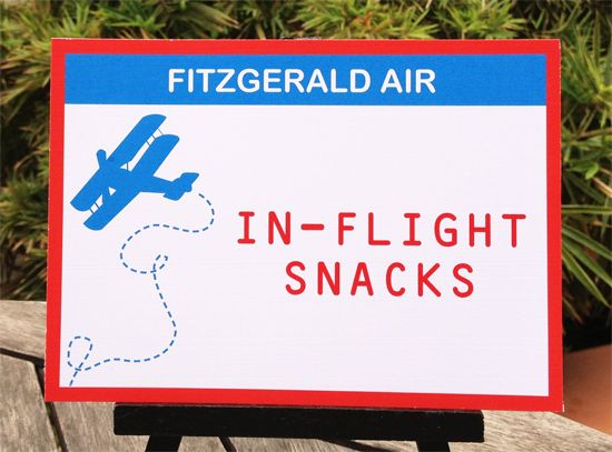 Vintage Airplane Party Signs