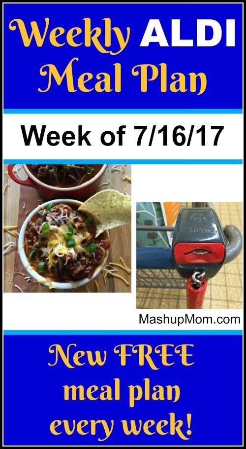 Free ALDI Meal Plan week of 7/16/17 - 7/22/17 -- Six complete dinners for four, $60 out the door! Save time and money with meal planning, and find new ALDI meal plans every week. http://www.mashupmom.com/free-aldi-meal-plan-week-71617-72217/
