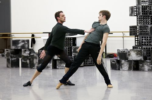 Luke Ahmet and Victor Zarallo in rehearsals for A Streetcar Named Desire.