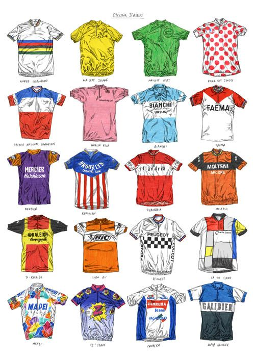 Cycle jerseys - they don't make 'em like they used to.
