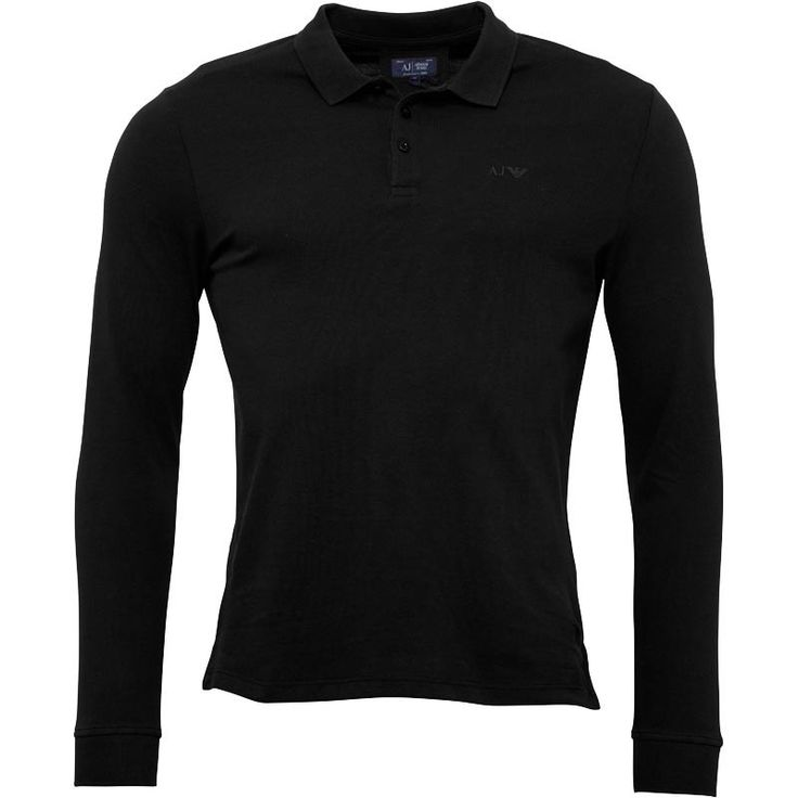 Armani Jeans Mens Long Sleeve Polo Black Armani Jeans long sleeve pique polo top. http://www.MightGet.com/february-2017-2/armani-jeans-mens-long-sleeve-polo-black.asp