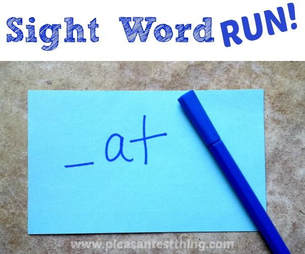 Sight Word Run - An active way to help kids learn sight words. {The Pleasantest Thing}