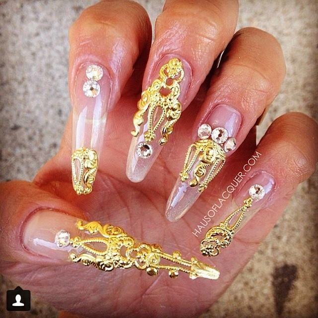 16 best Nail Jewelry Nail Art Ideas images on Pinterest | Nail ...