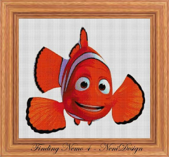 Cross stitch pattern custom made for you Finding Nemo 4 - cross stitch pattern.  PLEASE READ THE ENTIRE PAGE CAREFULLY BEFORE YOU BUY!  Computer Generated Pattern! Digital computer model - not printed on paper. This is a pattern only! Not a kit or finished piece! No fabric or floss are included in this listing!  This is NOT a finished cross stitch. The pattern includes a color legend for DMC pearl cotton. This pattern arrives as an Instant Download! A few minutes after your payment is…