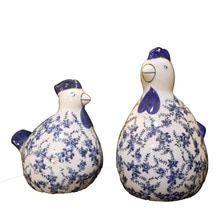 Klassische chinesische Handwerk Ornamente Keramik Huhn blau und weiß Porzellan …   – Keramische Kunst
