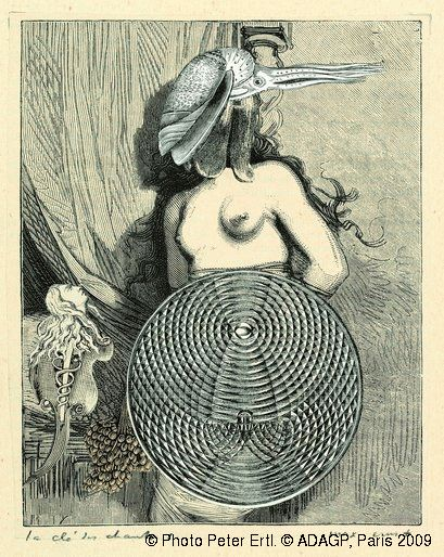 Max Ernst. Collage tiré de Une semaine de bonté. La clé des chants  1933