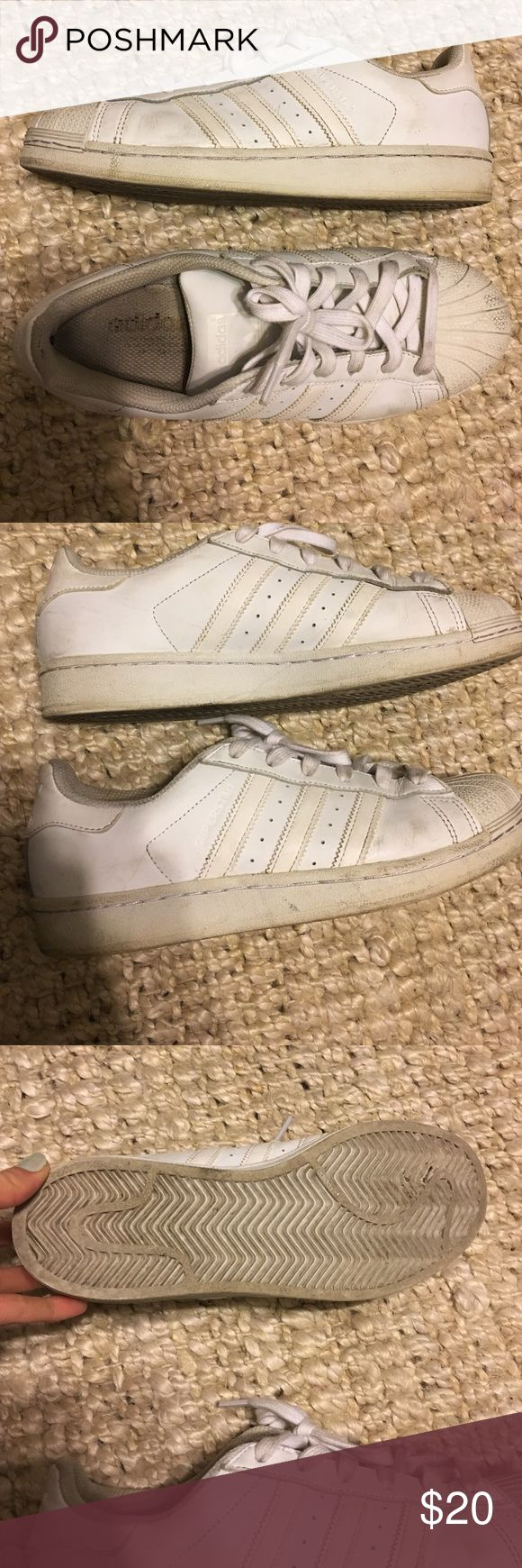 Adidas Superstars adidas used super stars ! can be cleaned with magic eraser ! Adidas Shoes Sneakers