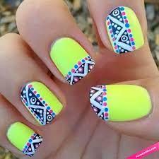 Resultado de imagen para uñas fluorescentes diseños