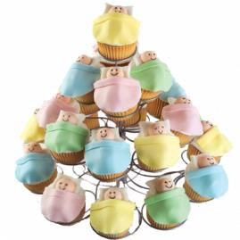 How to make High Rise Nursery Cupcakes.: Baby Shower Cupcakes, Nurseries Cupcake, High Rise, Baby Showers Cupcake, Showers Idea, Cute Cupcake, Baby Cupcake, Baby Cakes, Rise Nurseries