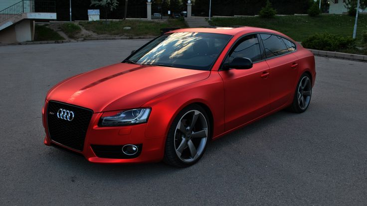 Audi A5 Chrome Red Matt Folioplus Exclusive Car